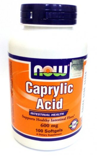 Caprylic acid 600mg 100 kaps Now Foods kwas kaprylowy